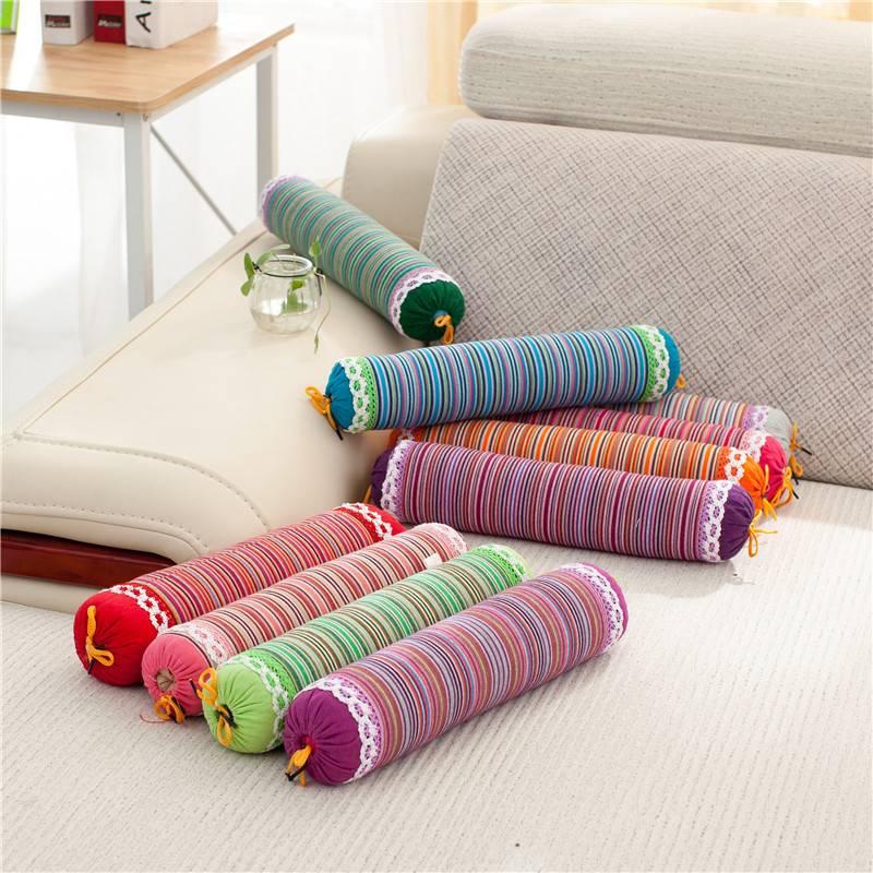 圆柱荞麦枕头颈椎专用矫正修复颈椎枕保健护颈枕圆形糖果枕枕头