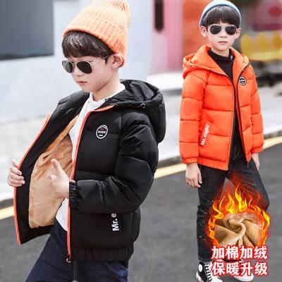 童装男童棉衣2019新款冬装外套儿童中大童洋气棉袄男宝宝羽绒棉服