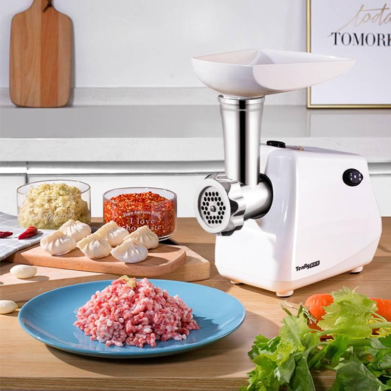Tenfly绞肉机家用电动全自动小型商用碎肉饺馅搅肉香肠机灌肠机H