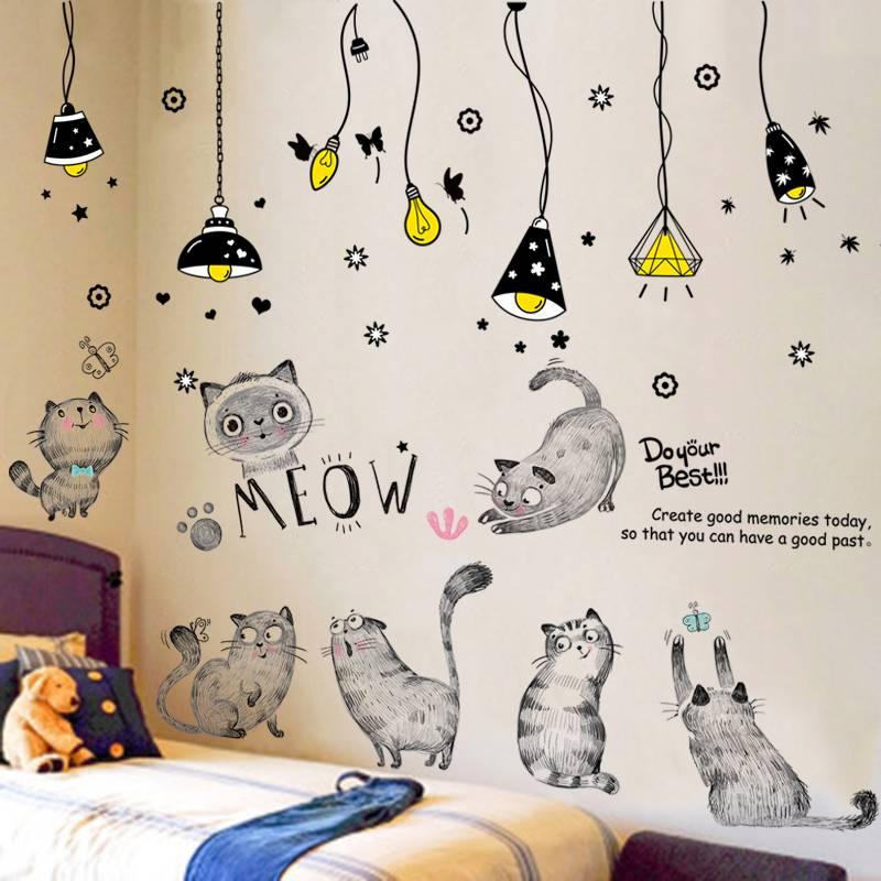 ins墙贴纸少女卧室床头墙面装饰公主房间布置背景墙壁纸贴画自粘