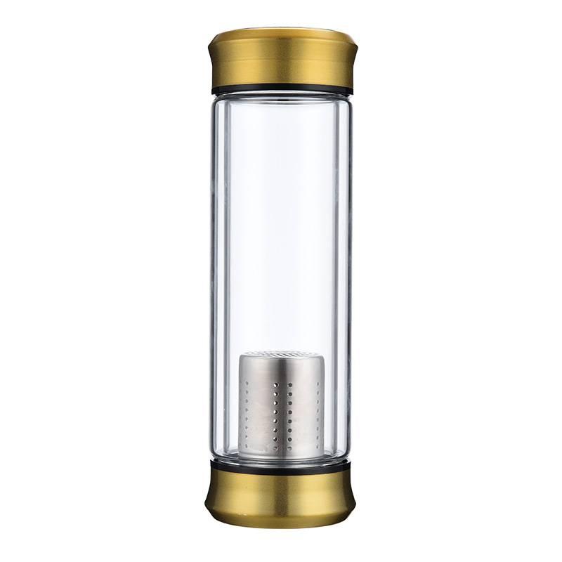 双层玻璃杯隔热加厚茶水分离泡茶杯子双头男女士办公车载过滤水杯