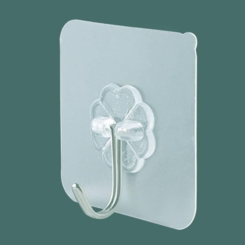 挂钩强力粘胶无痕承重门后粘贴钩墙壁挂勾厨房浴室免钉免打孔粘钩