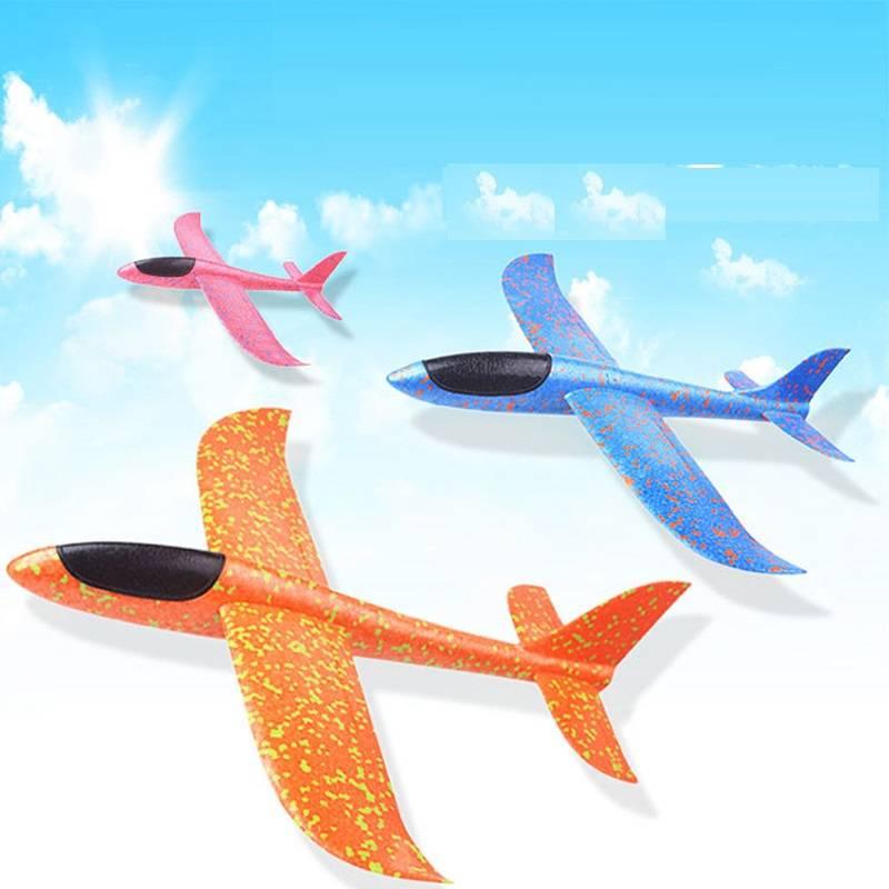 飞机玩具手抛泡沫飞机手抛飞机模型儿童手抛航模滑翔机EPP飞机抗
