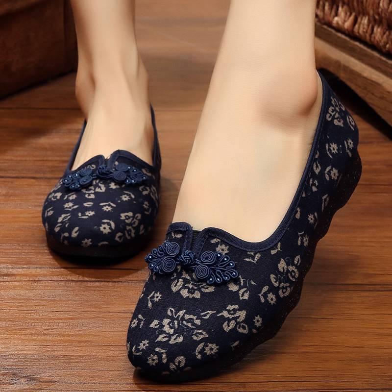 步锦轩老人奶奶老北京布鞋女旗舰店官方正品新款中老年人休闲鞋子