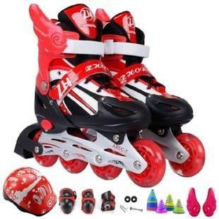 真好溜冰鞋轮滑鞋玩具八轮旱冰鞋