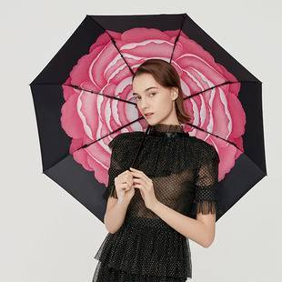 蕉下爆款遮阳伞防晒伞防紫外线女晴雨两用伞太阳伞雨伞女小黑伞