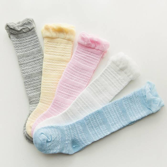 高中筒夏季超薄款网眼婴儿长筒袜儿童宝宝纯棉过膝男女童防蚊袜子