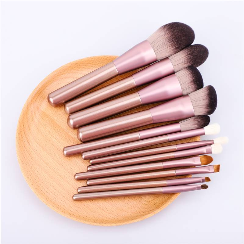 望明眉小葡萄化妆套刷12支全套动物毛专业美妆工具