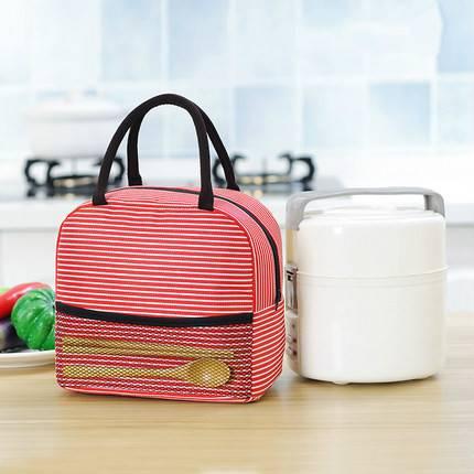 韩国饭盒袋女保温袋便当袋手提包带饭的袋手拎袋帆布袋学生拎午餐