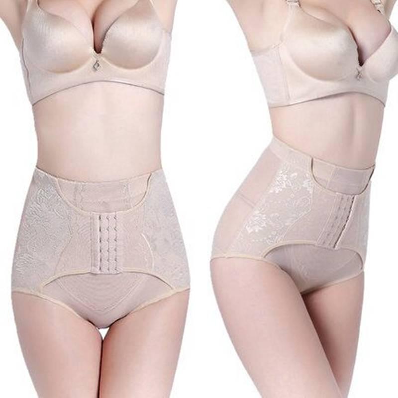 夏季中腰收腹裤女产后塑形塑腰提臀瘦身收小肚子高腰无痕内裤薄款