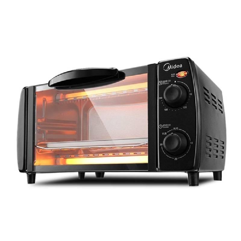 Midea/美的 T1-L101B家用多功能10L迷你小型电烤箱烘焙蛋糕烧烤肉