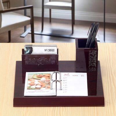2020木质日历记事桌面办公商务创意台历架子高档笔筒摆件开业送礼