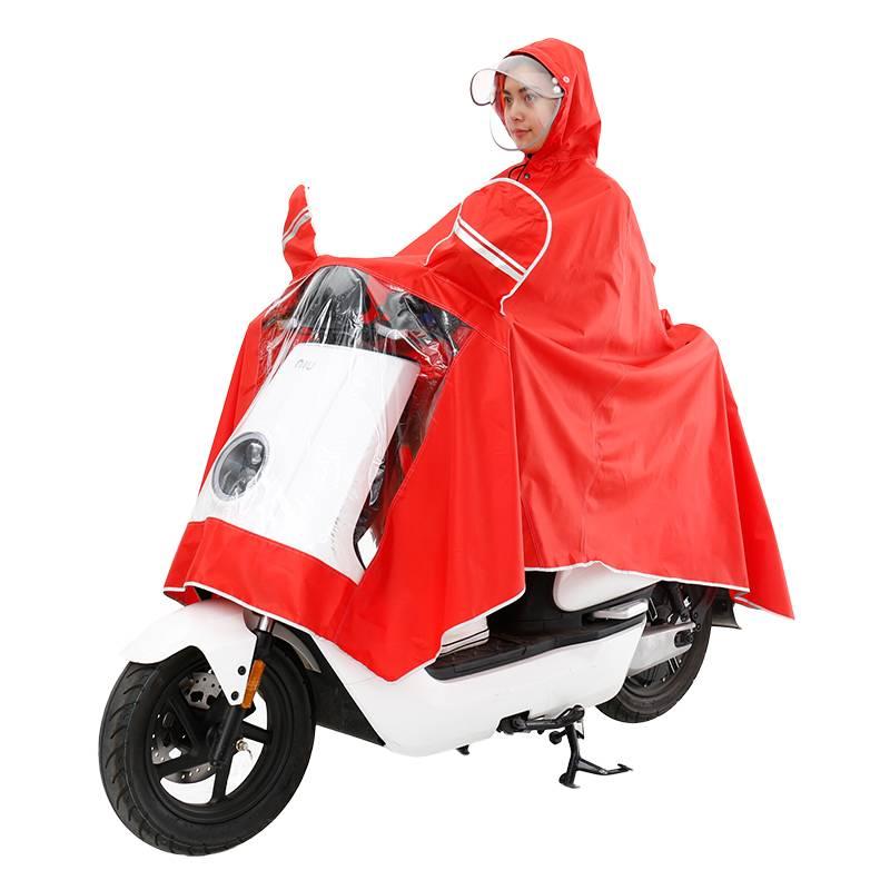 加大加厚双帽檐摩托车雨衣雨披