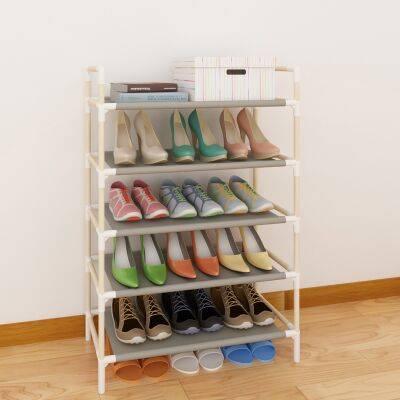 实木简易多层鞋架多功能鞋柜 收纳组装宿舍家用经济型