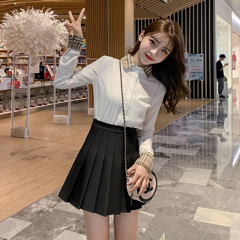 高腰百褶裙短裙女秋冬季大码大码胖mm黑色半身裙2019新款灰色短裙