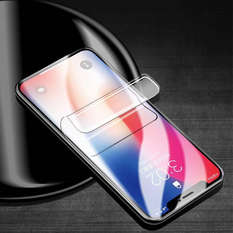 苹果x水凝膜钢化iphone/xr/6/7/8/plus全屏xs全包11promax磨砂蓝光手机贴膜11pro保护高清软