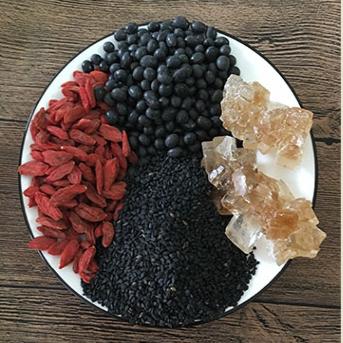 黑芝麻黑豆枸杞粉老冰糖  杰哥推荐 五谷杂粮代早餐即食 对头发好