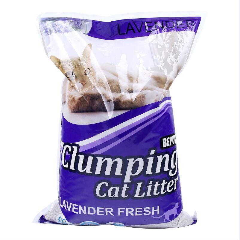 香味猫砂包邮结团膨润土润东猫砂5kg柠檬低尘结团抑菌除臭