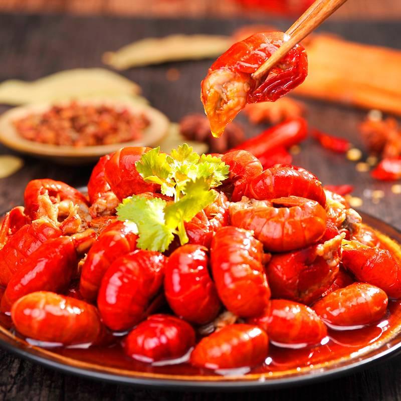 【第2件9.9】山拐那麻辣小龙虾尾即食香辣味零食熟食小海鲜龙虾尾