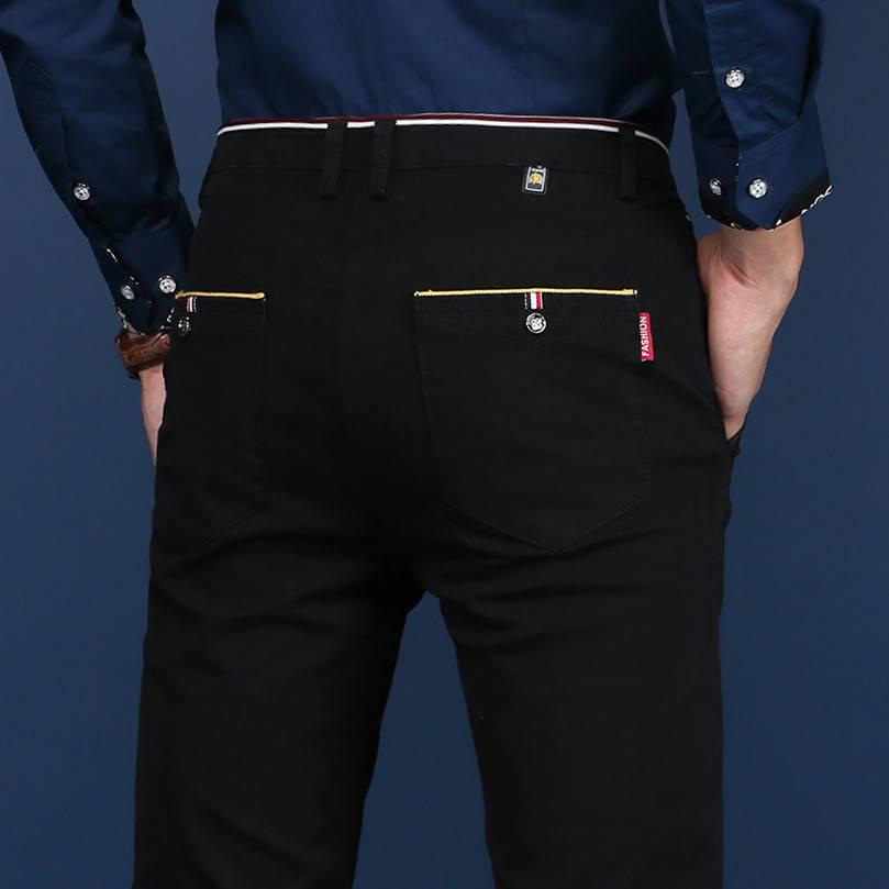 秋季男裤子休闲裤男士韩版潮流直筒裤宽松纯棉弹力修身商务长裤