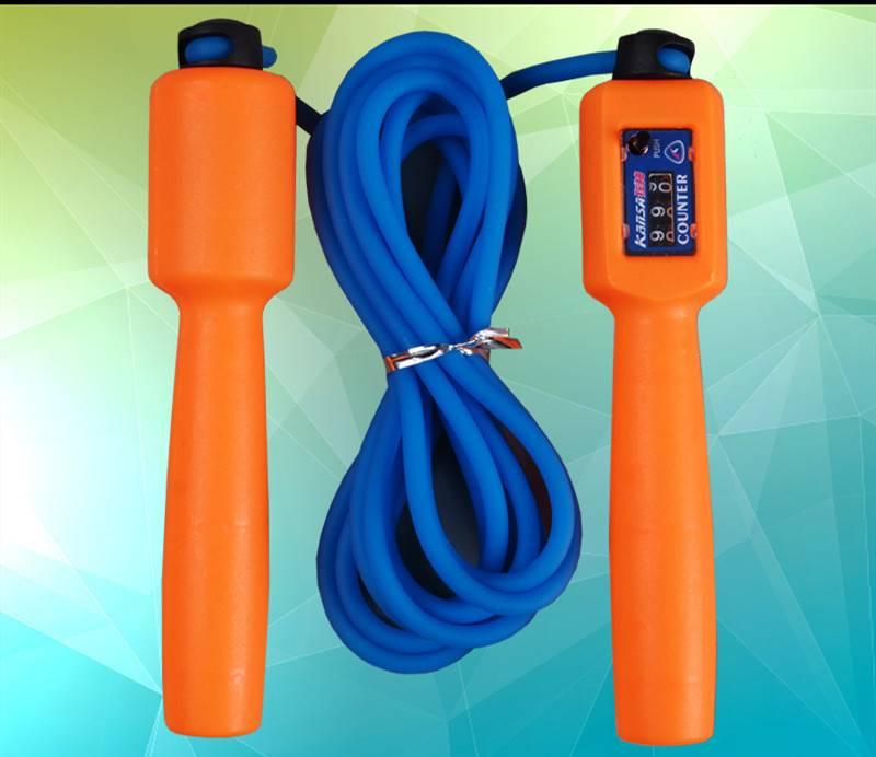 狂神跳绳成人健身学生中考训练计数棉跳绳橡胶绳钢丝可调长短跳绳