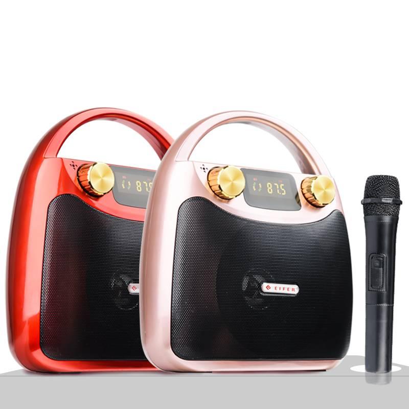 伊菲尔 B11户外无线蓝牙音箱广场舞音响便携式小型迷你手提移动充电地摊播放器带话筒家用k歌大音量重低音炮