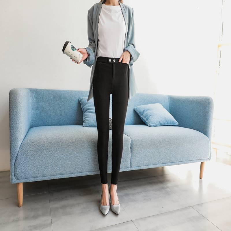 黑色裤子秋季2018新款打底裤女外穿小脚显瘦高腰韩版魔术紧身铅笔