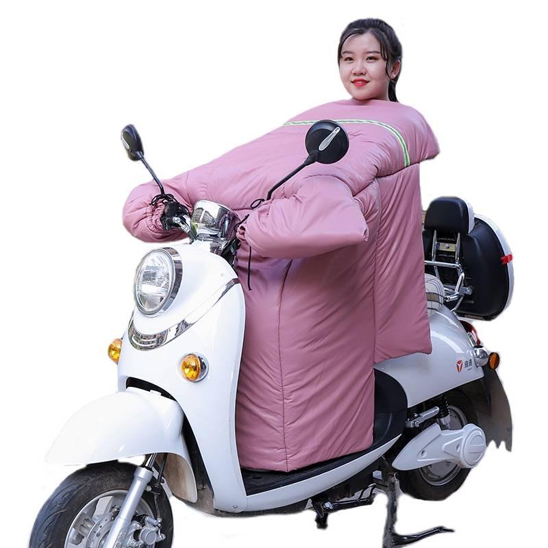 电动电瓶车摩托车挡风被冬季加绒加厚pu防水防风罩秋冬天保暖防寒