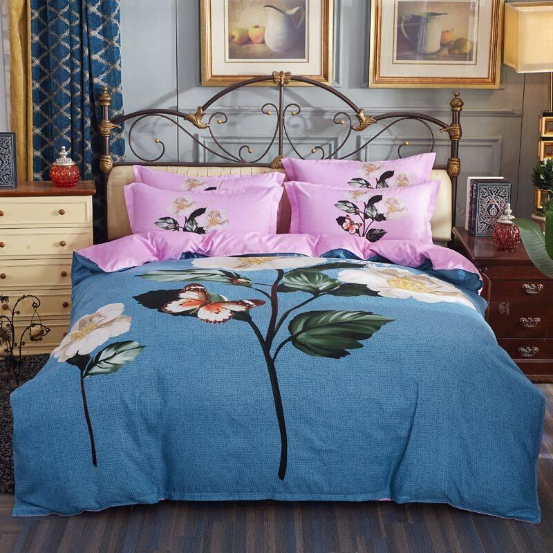 正品床上用品四件套加厚冬季1.8m床纯棉全棉床单被套床上用品