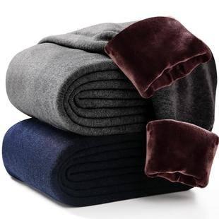 【北极绒】高端男士加厚羊绒保暖裤