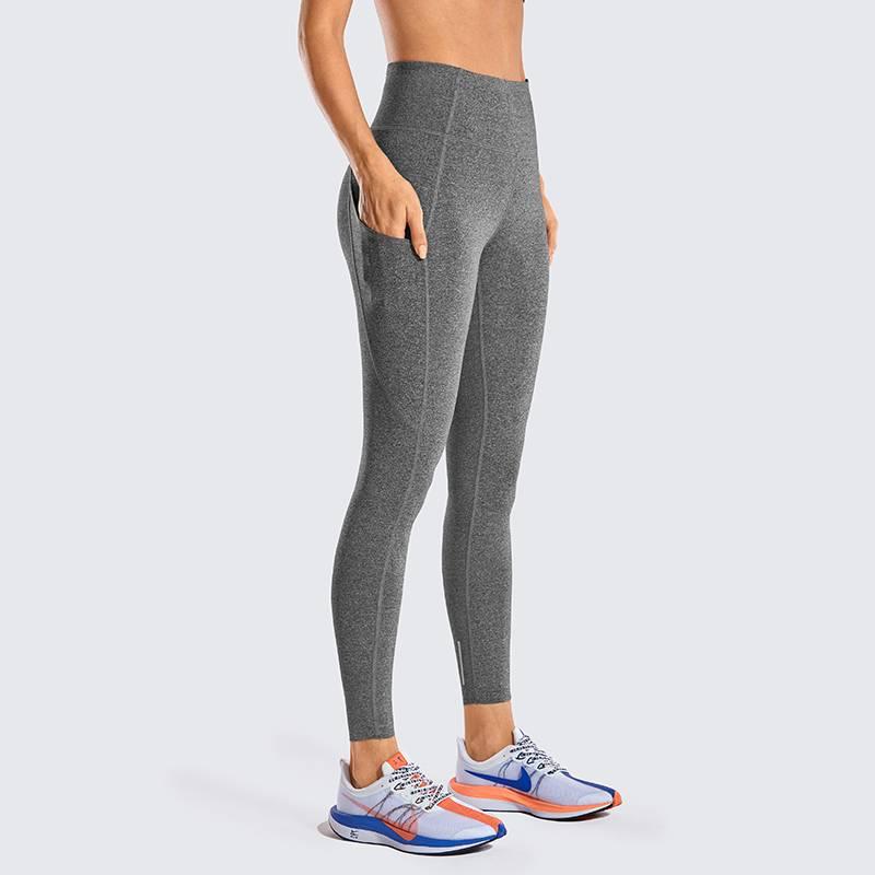 裸感无痕瑜伽裤女高腰提臀冬季可外穿收腹口袋健身裤运动裤紧身