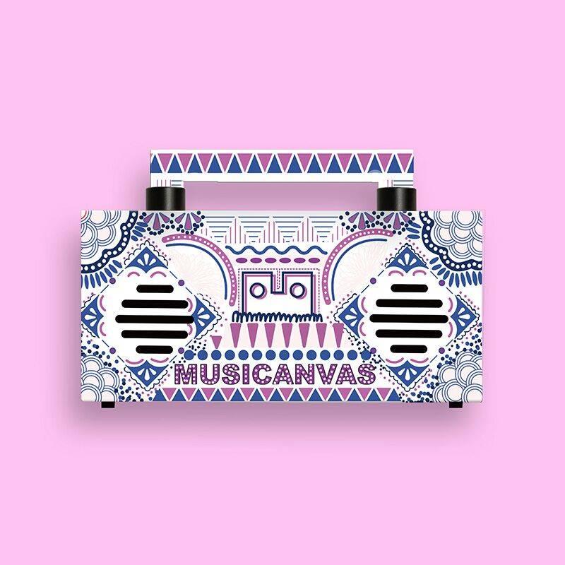 音乐画布M-Mini无线蓝牙音箱创意收音机礼物便携式户外家用低音炮
