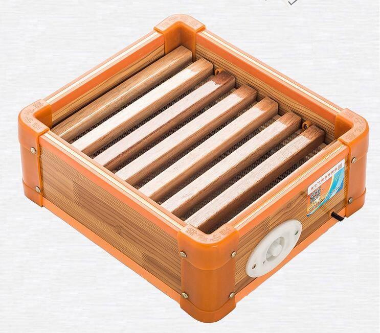 湘宁实木取暖器暖脚器 家用烤火箱电火桶电火盆节能烤火炉烤脚器