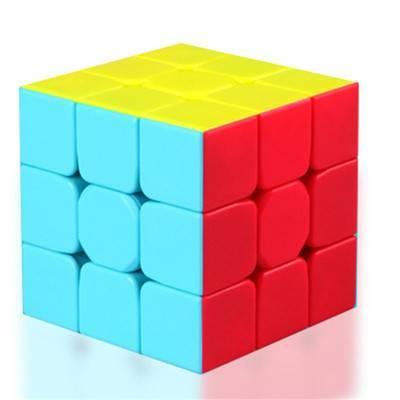奇艺魔方格二阶三阶四阶异形魔方顺滑套装实色初学者比赛魔方玩具