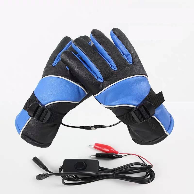 冬季电热手套男女充电发热手套电动车摩托车手背保暖加热手套防水