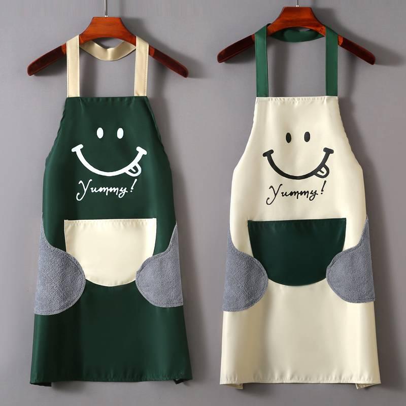 广告围裙定制logo印字韩版时尚家用厨房防水防油水果餐饮店工作服