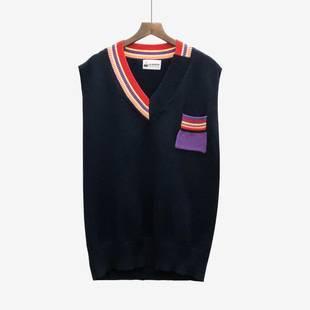 5秋套装网红衬衣女社会时髦chic早秋衬衫配学院风针织马甲两件套