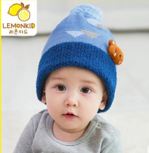 陆柠檬宝宝婴儿帽子儿童帽子套头帽秋冬季男女童保暖帽宝宝帽子潮