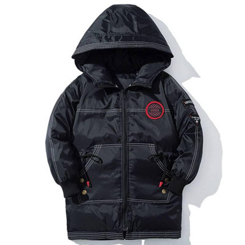 童裝男童棉衣2019新款冬裝兒童中長款棉襖中大童羽絨棉服加厚外套