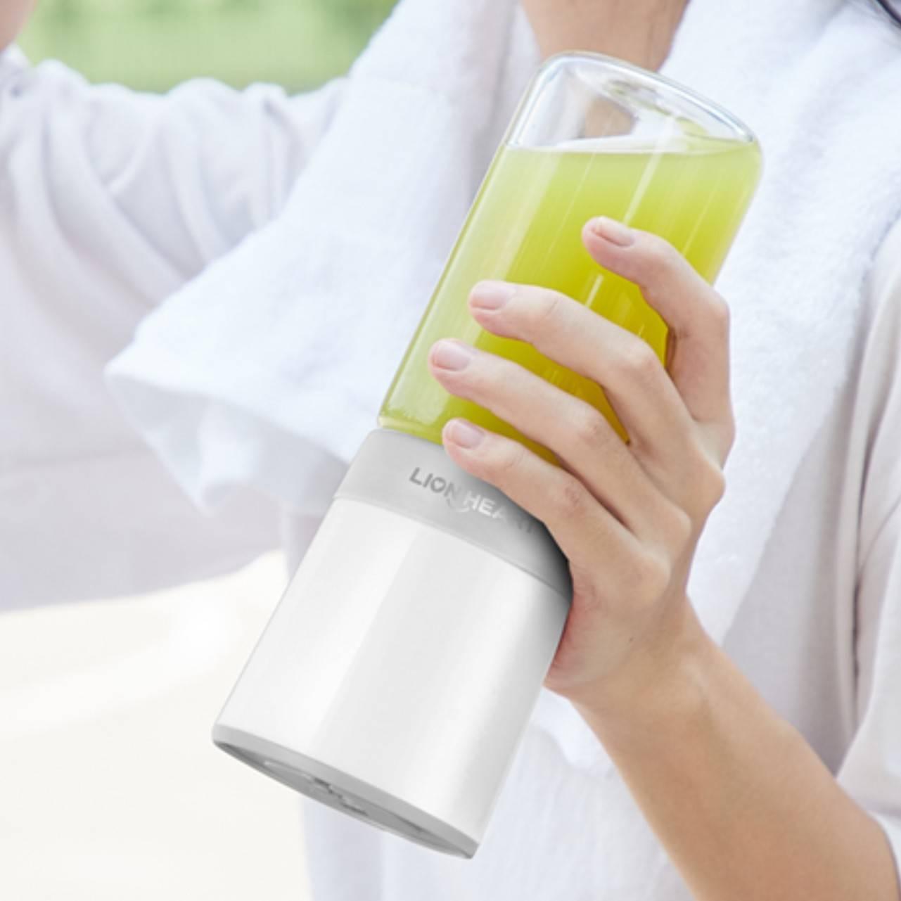 莱恩哈特榨汁机家用水果小型便携式榨汁杯迷你电动充电果汁机学生