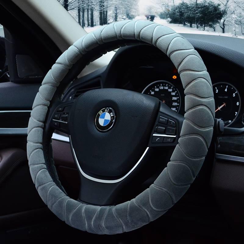 方向盘套冬季短毛绒男女思域大众宝马通用型冬天保暖防滑汽车把套