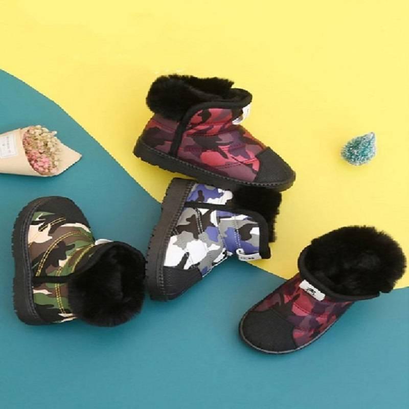 儿童雪地靴防水防滑女童雪地靴男加绒保暖冬季新款宝宝棉鞋童靴子