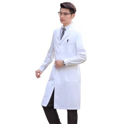 白大褂长袖医生服男夏季衣短袖半袖薄款实验服学生化学医生工作服