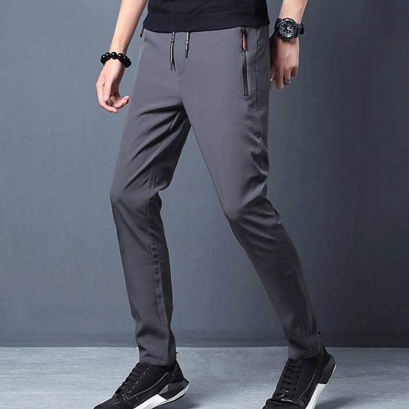 2020春季男士休闲裤韩版修身潮流运动松紧裤宽松小脚百搭黑色长裤