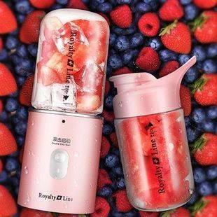 瑞士罗娅榨汁机家用 水果 小型榨汁杯电动便携式迷你果汁杯炸汁机