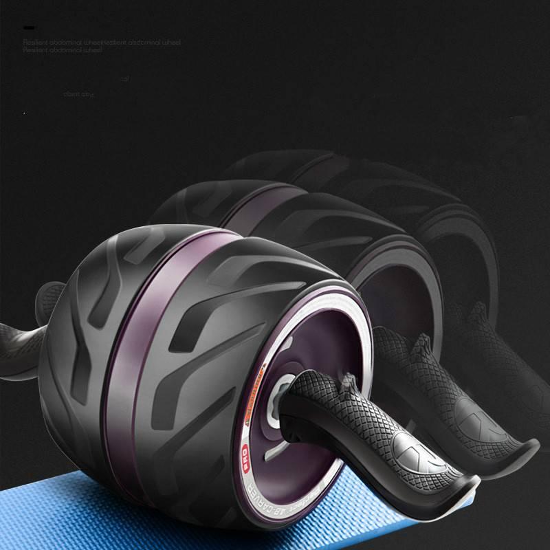 健腹轮男士女家用收腹自动回弹初学者健身轮静音腹肌滚轮运动器材