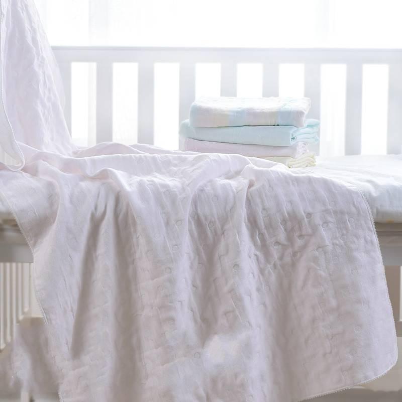 婴儿毯子纯棉新生的儿童纱布毛巾被软春秋宝宝毛毯空调盖毯小被子
