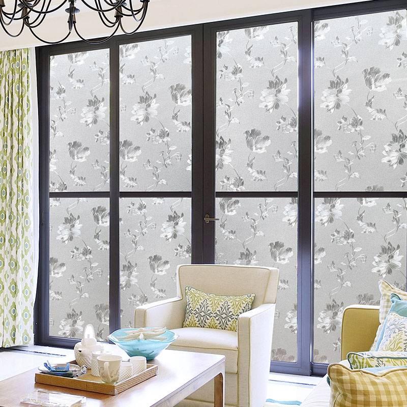 窗户玻璃贴纸透光不透明家用卫生间浴室贴膜遮光磨砂静电贴窗花贴