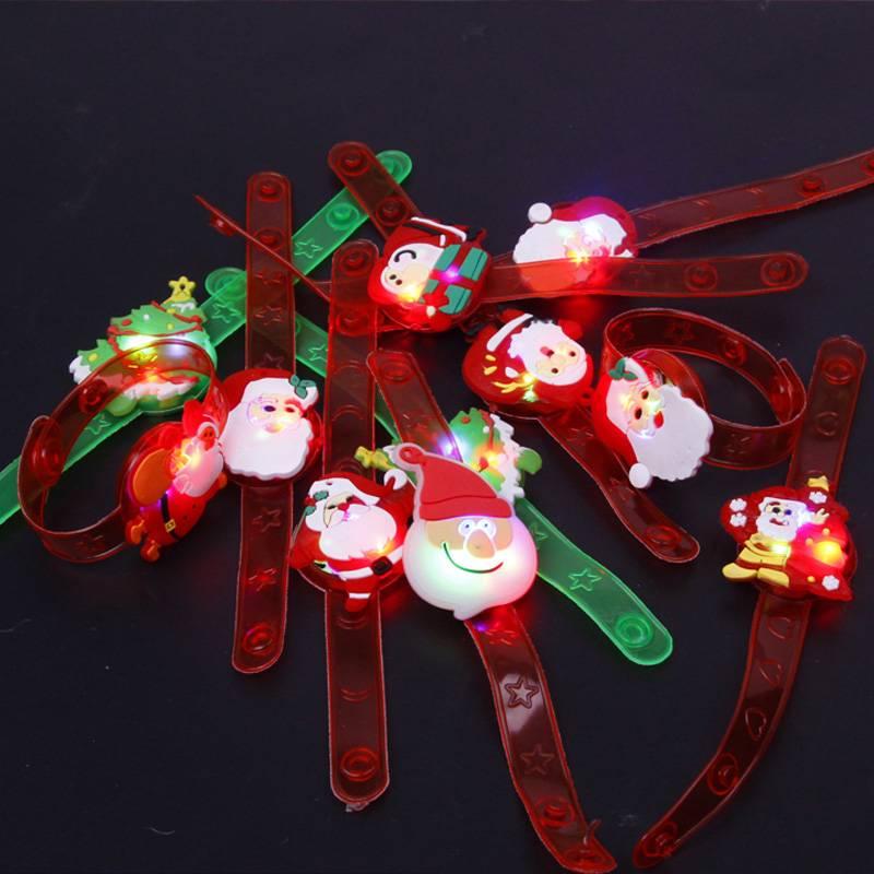 圣诞节装饰用品发光鹿角头筘圣诞老人头箍儿童成人雪人熊头扣发饰