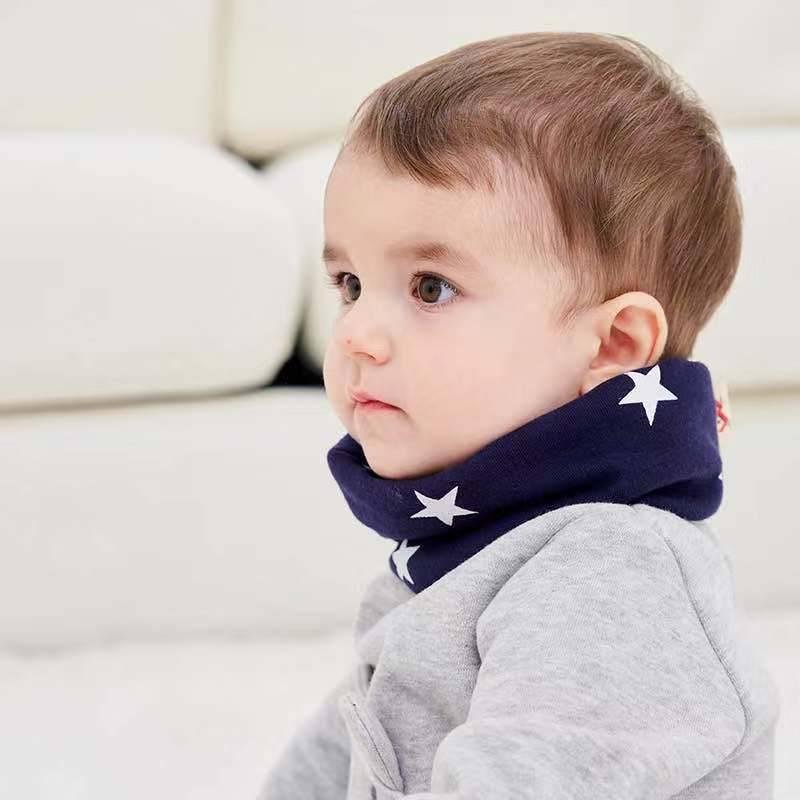 宝宝围巾婴儿围脖0-1岁儿童脖套纯棉防风护嘴保暖秋冬季幼儿男童
